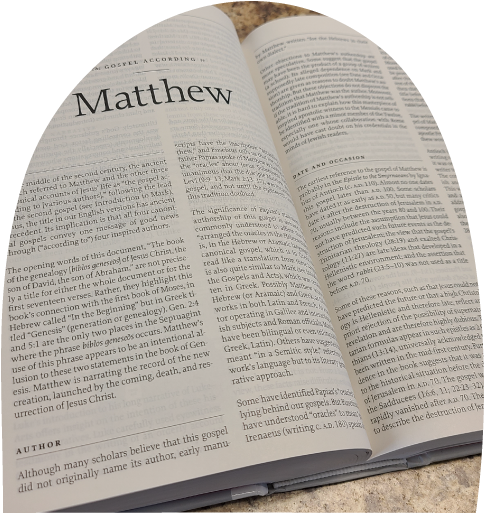 Open Bible, Book of Matthew